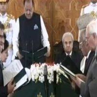 Caretaker federal cabinet takes oath