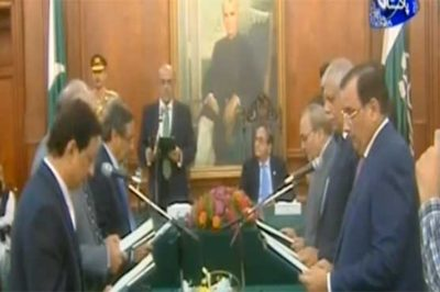 Six-member caretaker Punjab cabinet sworn in