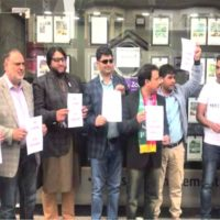 Enraged PTI workers protest in London for not giving ticket to Atif Chaudhry