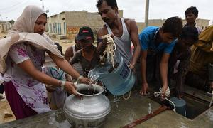 In Lyari, they scavenge water like it's gold
