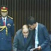 Asif Ali Zardari first parliamentarian to sign roll register