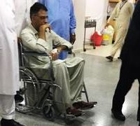 PTI's Asad Umar suffers minor injury after mishap with horse