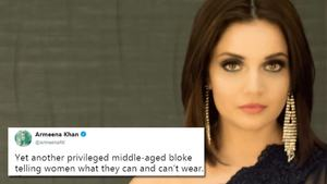 "Armeena Khan claps back at Boris Johnson for comparing burqa wearing Muslims to ""bank robbers"""