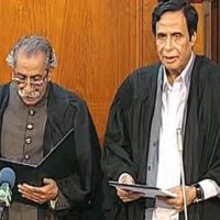 PTI nominee Chaudhry Pervaiz Elahi sworn in as Punjab Assembly Speaker