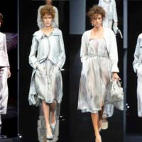 Armani defines shape of color in pastel and silver collection
