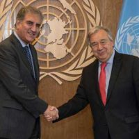 FM Qureshi meets UN chief, urges to resolve Kashmir issue