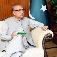 Pakistan has no intention of joining arms race: President Alvi