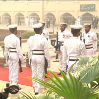 Change of guard ceremony held at Iqbal's mausoleum